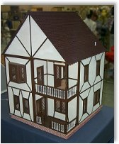 Model house from cardboard